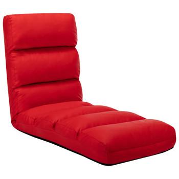vidaXL Sklopiva podna stolica od  umjetne kože crvena
