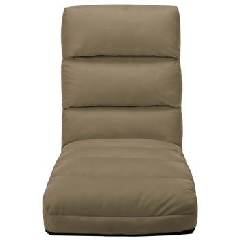 vidaXL Sklopiva podna stolica od umjetne kože boja cappuccina