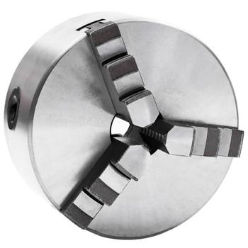 vidaXL Stezna glava za tokarski stroj s 3 čeljusti 125 mm čelična