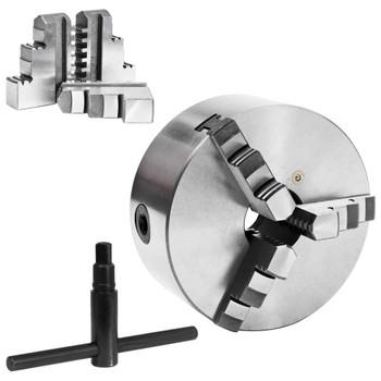 vidaXL Stezna glava za tokarski stroj s 3 čeljusti 160 mm čelična
