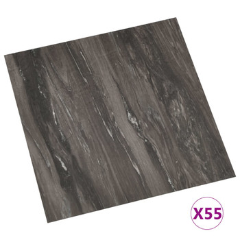 vidaXL Samoljepljive podne obloge 55 kom PVC 5,11 m² tamnosive
