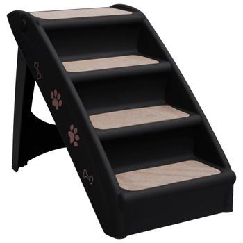 vidaXL Sklopive stepenice za pse crne 62 x 40 x 49,5 cm