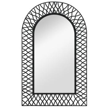 vidaXL Zidno ogledalo s lukom 50 x 80 cm crno