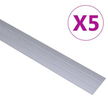 vidaXL Podni profili 5 kom aluminijski 100 cm srebrni
