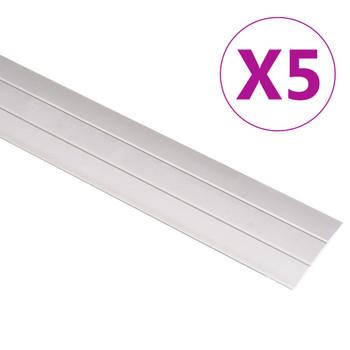 vidaXL Podni profili 5 kom aluminijski 100 cm zlatni