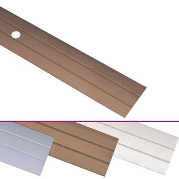 vidaXL Podni profili 5 kom aluminijski 134 cm smeđi