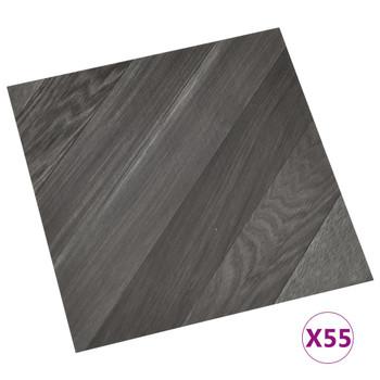 vidaXL Samoljepljive podne obloge 55 kom PVC 5,11 m² sive prugaste