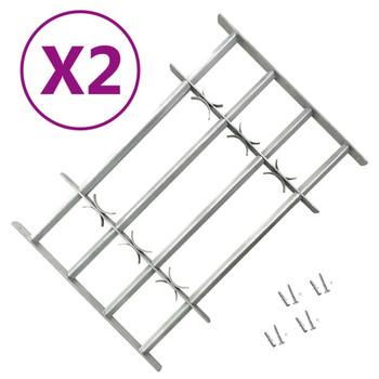 vidaXL Podesive sigurnosne rešetke za prozore 2 kom 1000 - 1500 mm