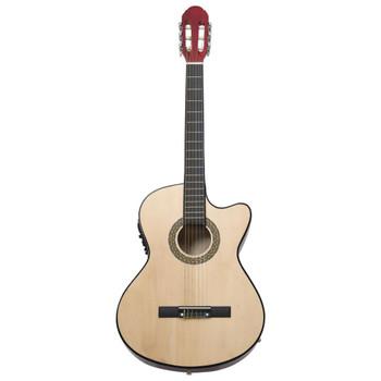 vidaXL Akustična gitara Western s prorezom, ujednačivačem i 6 žica