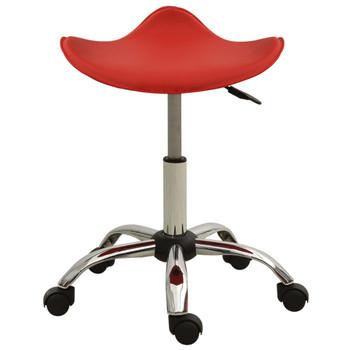 vidaXL Salonski stolac od umjetne kože crveni