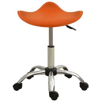 vidaXL Salonski stolac od umjetne kože narančasti