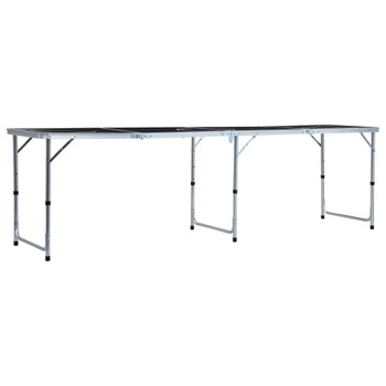 vidaXL Sklopivi stol za pivski pong 240 cm crni