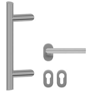 vidaXL Kvaka i set šipki za vrata 350 mm od nehrđajućeg čelika