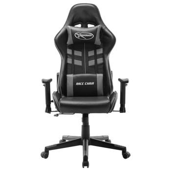 vidaXL Igraća stolica od umjetne kože crno-siva