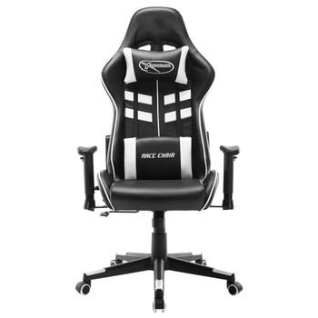vidaXL Igraća stolica od umjetne kože crno-bijela