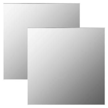 vidaXL Zidna ogledala 2 kom 50 x 50 cm četvrtasta staklena