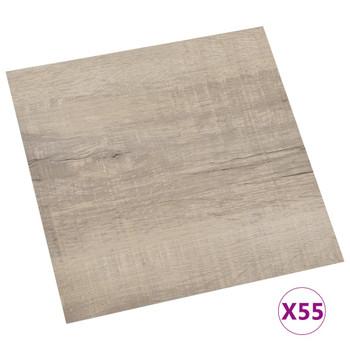 vidaXL Samoljepljive podne obloge 55 kom PVC 5,11 m² smeđe-sive