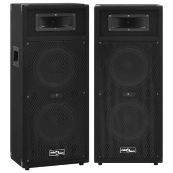 vidaXL Profesionalni pasivni scenski zvučnici HiFi 2 kom 1000 W crni