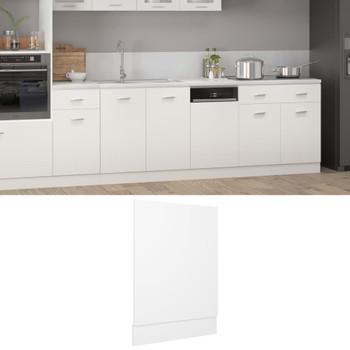 vidaXL Ploča za perilicu posuđa bijela 45 x 3 x 67 cm od iverice