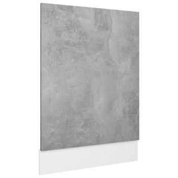 vidaXL Ploča za perilicu posuđa siva boja betona 45x3x67 cm od iverice