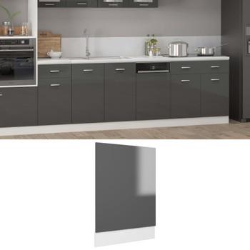 vidaXL Ploča za perilicu posuđa sjajna siva 45 x 3 x 67 cm od iverice