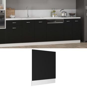 vidaXL Ploča za perilicu posuđa crna 59,5 x 3 x 67 cm od iverice