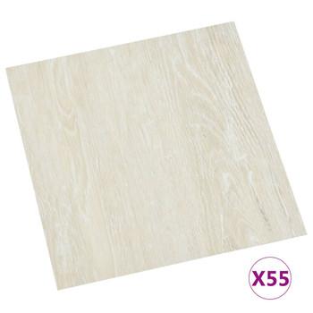 vidaXL Samoljepljive podne obloge 55 kom PVC 5,11 m² krem