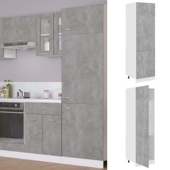 vidaXL Ormarić za hladnjak siva boja betona 60 x 57 x 207 cm iverica