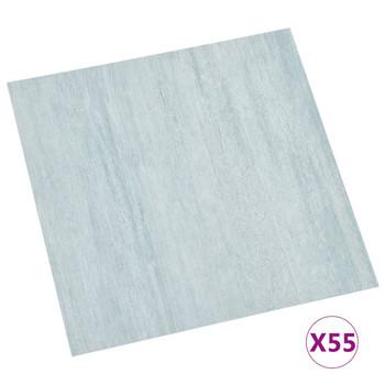 vidaXL Samoljepljive podne obloge 55 kom PVC 5,11 m² zelene
