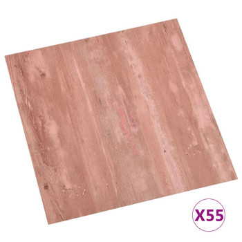 vidaXL Samoljepljive podne obloge 55 kom PVC 5,11 m² crvene