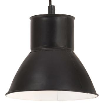 vidaXL Viseća svjetiljka 25 W tamnocrna okrugla 17 cm E27