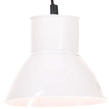 vidaXL Viseća svjetiljka 25 W bijela okrugla 17 cm E27