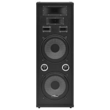 vidaXL Profesionalni pasivni scenski zvučnik HiFi 1000 W crni