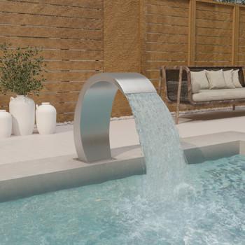 vidaXL Fontana za bazen LED 30 x 60 x 70 cm od nehrđajućeg čelika 304