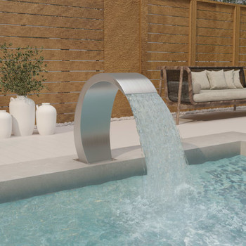 vidaXL Fontana za bazen 30 x 60 x 70 cm od nehrđajućeg čelika 304