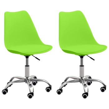vidaXL Uredske stolice od umjetne kože 2 kom zelene