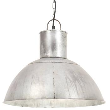vidaXL Viseća svjetiljka 25 W srebrna okrugla 48 cm E27