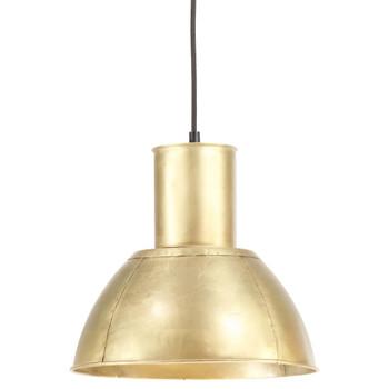 vidaXL Viseća svjetiljka 25 W mjedena okrugla 28,5 cm E27