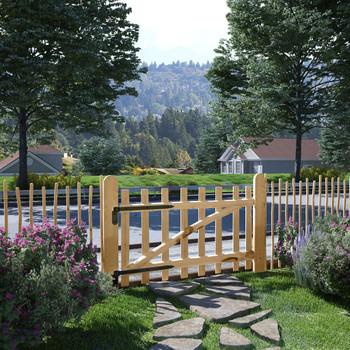 vidaXL Jednostruka Vrata za Ogradu Drvo Lijeske 100x60 cm