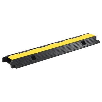 vidaXL Podna zaštita za kabele most s 1 kanalom od gume 100  cm