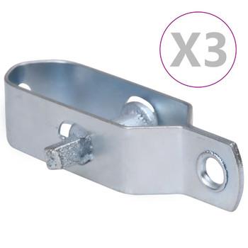 vidaXL Zatezači za žicu za ogradu 3 kom 100 mm čelični srebrni
