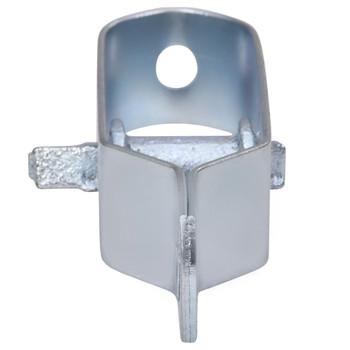 vidaXL Zatezači za žicu za ogradu 10 kom 100 mm čelični srebrni