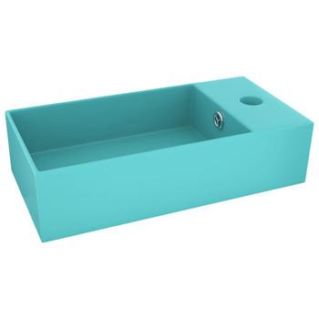 vidaXL Kupaonski umivaonik keramički svjetlozeleni