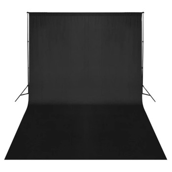 Crna studijska pozadina 500 x 300 cm