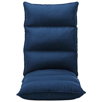 vidaXL Sklopiva podna stolica od tkanine plava