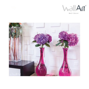 WallArt 3D zidne ploče s uzorkom kvadrata 12 kom GA-WA09