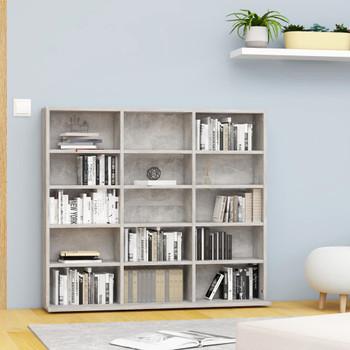 vidaXL Ormarić za CD-ove siva boja betona 102x23x89,5  cm iverica