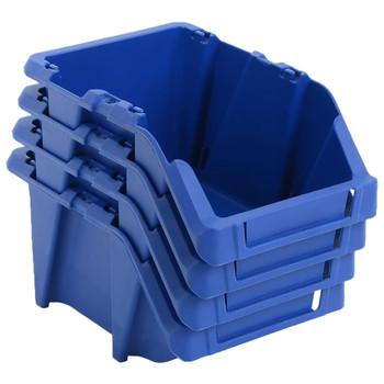 vidaXL 150 kom Skladišni složivi spremnici  125 x 195 x 90 mm plavi