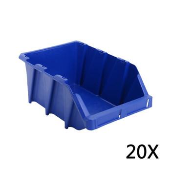 vidaXL 20 kom Skladišni složivi spremnici  265 x 420 x 178 mm plavi