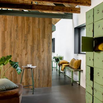 WallArt zidne obloge s izgledom obnovljene hrastovine starinske smeđe